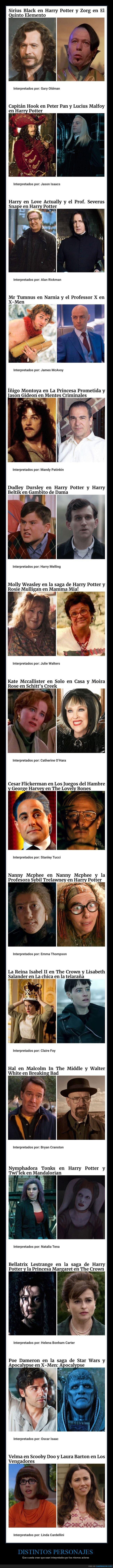 actores,distintos,personajes