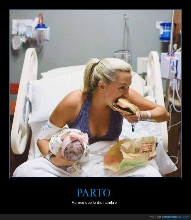comiendo,madre,parto