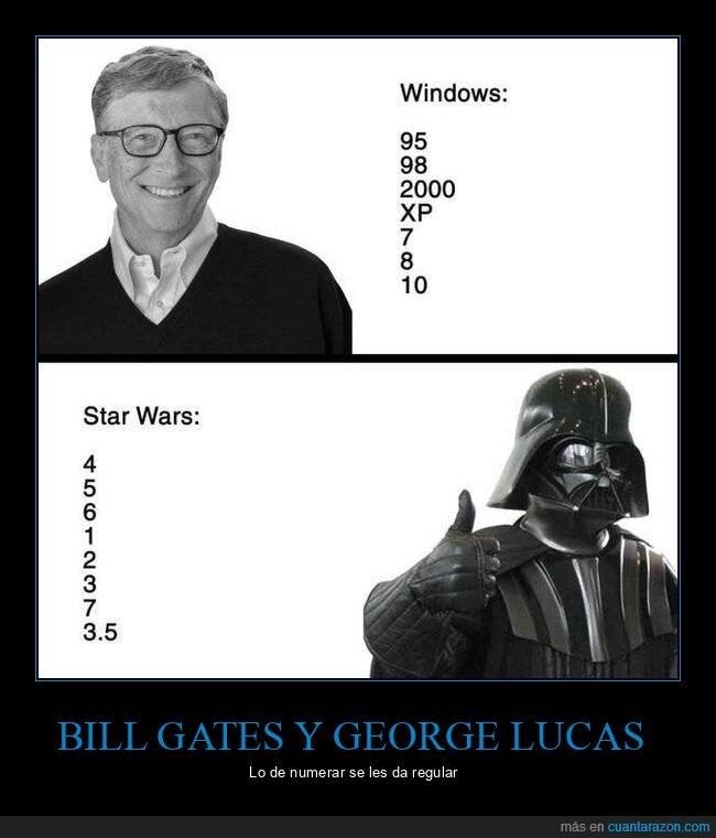 numeraciones,star wars,windows