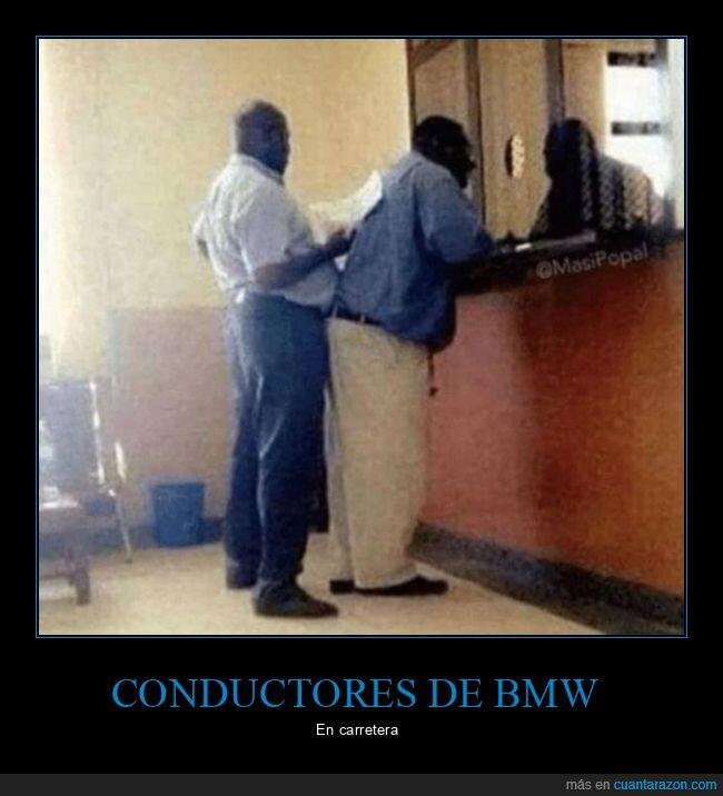 bmw,conductores,pegado