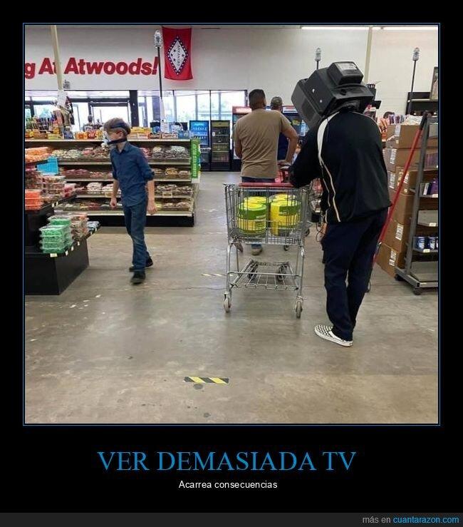 cabeza,televisión,tienda,wtf
