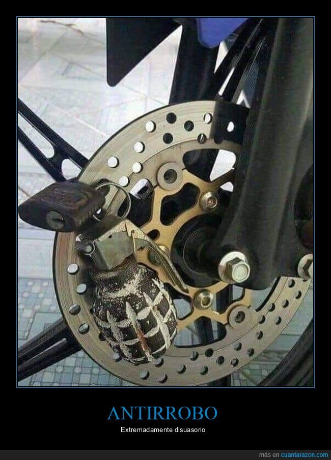 antirrobo,granada,moto,wtf