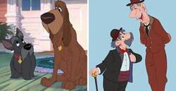Enlace a Disney humanimalizado: Personajes animales convertidos en humanos y viceversa