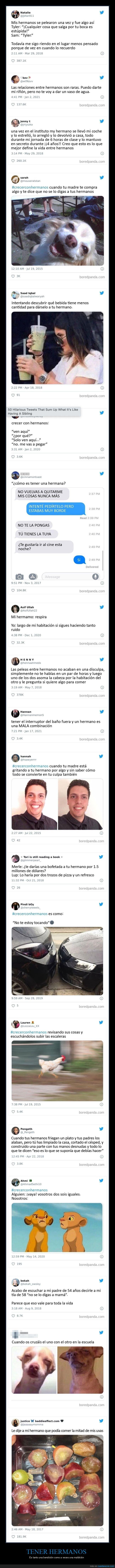 hermanos,tweets