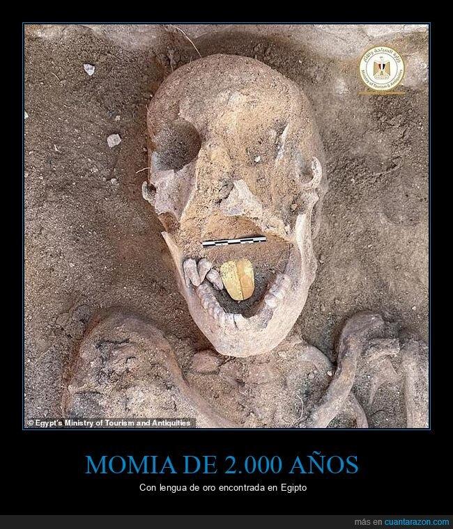egipto,lengua,momia,oro
