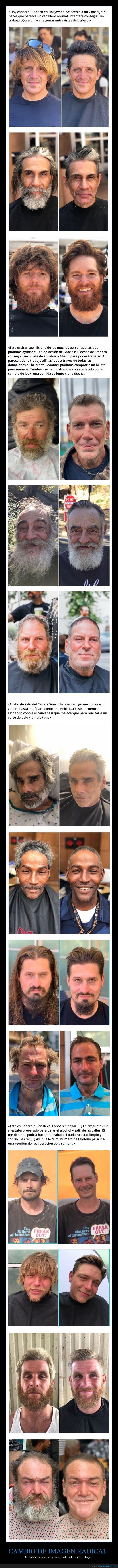 barbero,cambio de imagen,sin hogar