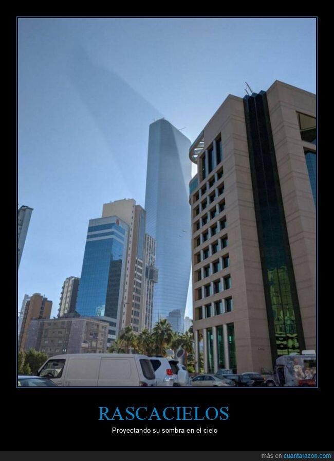 cielo,edificio,rascacielos,sombra