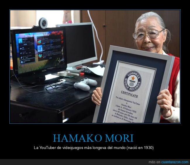 hamako mori,longeva,videojuegos,youtuber