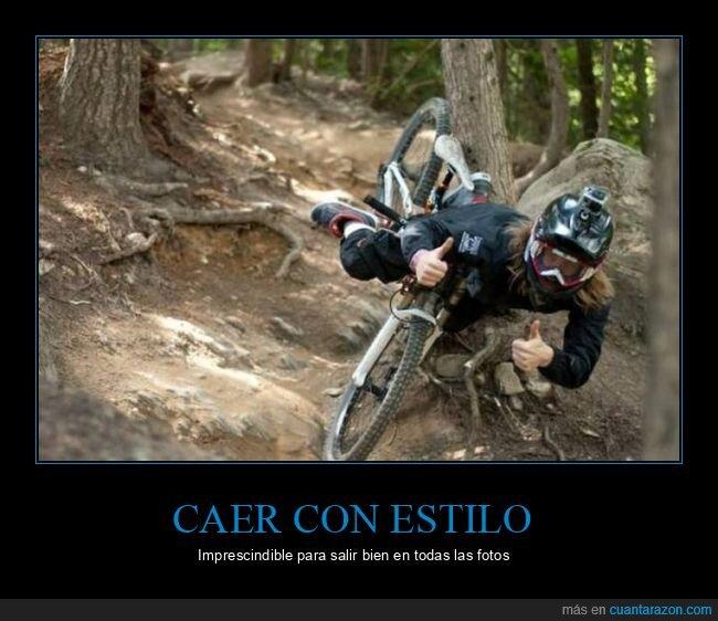 bicicleta,cayendo,momento exacto