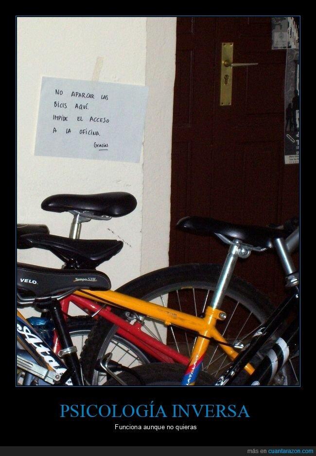 bicicletas,cartel,prohibición