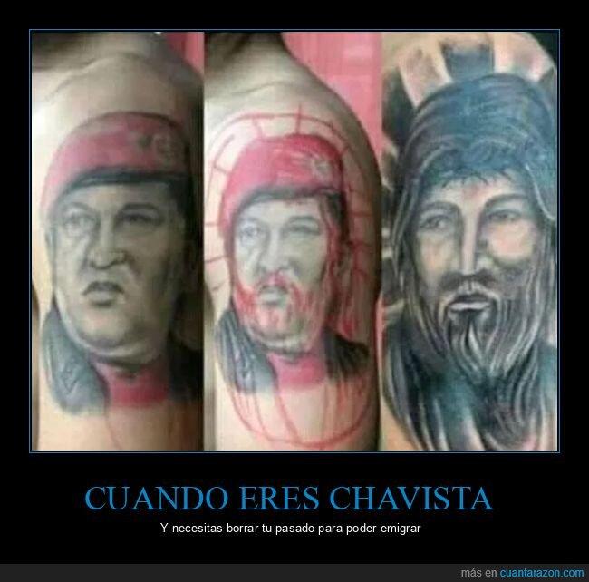 hugo chávez,jesús,políticos,tattoo