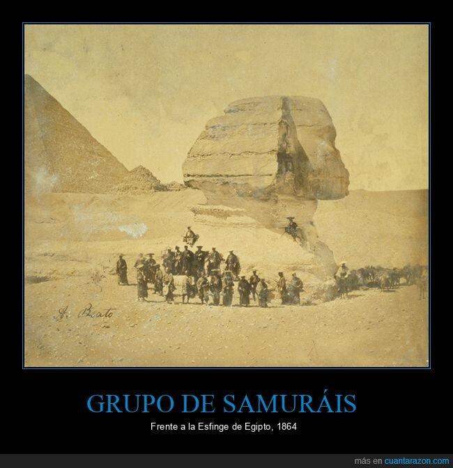egipto,esfinge,samuráis