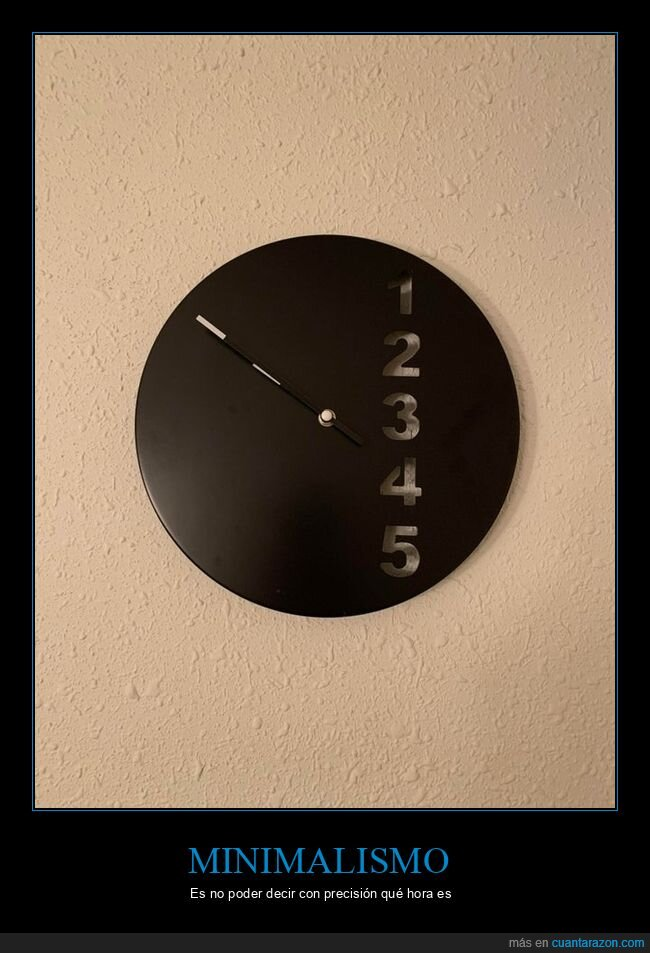 minimalismo,reloj