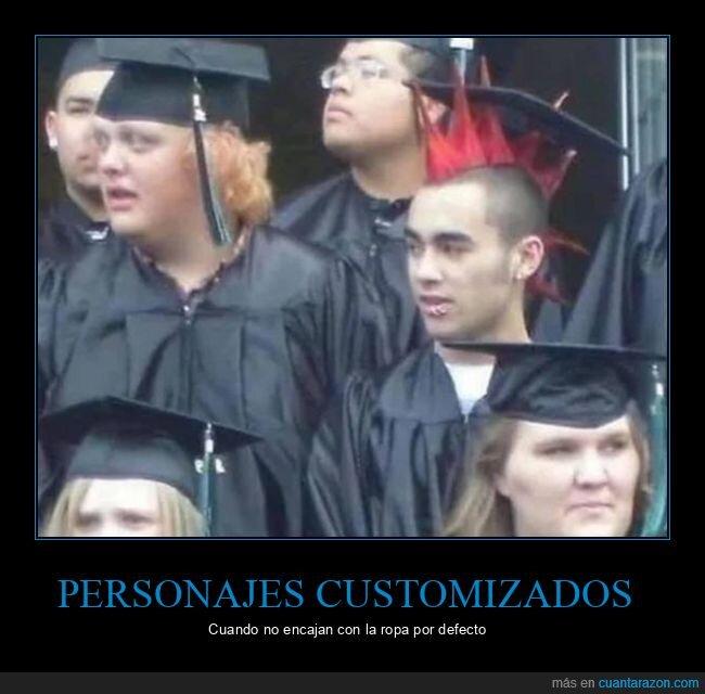 graduación,punky,wtf
