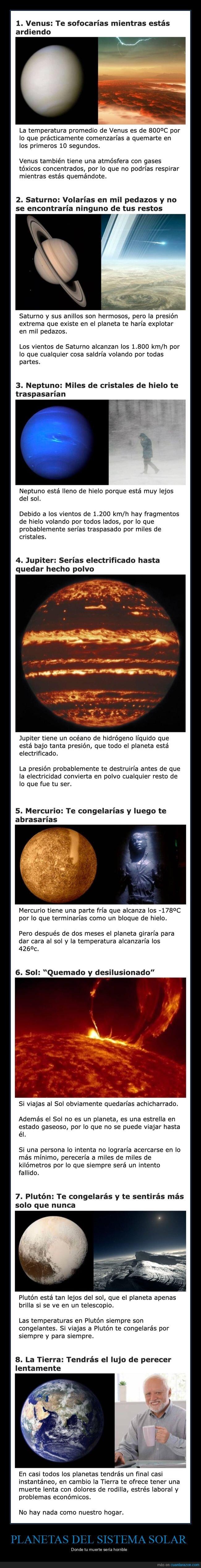 muertes,planetas,sistema solar