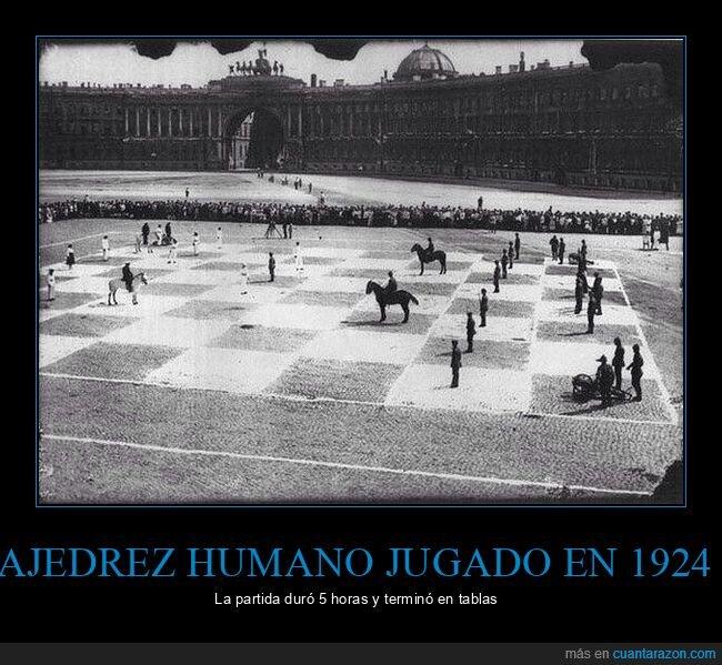 ajedrez humano,retro