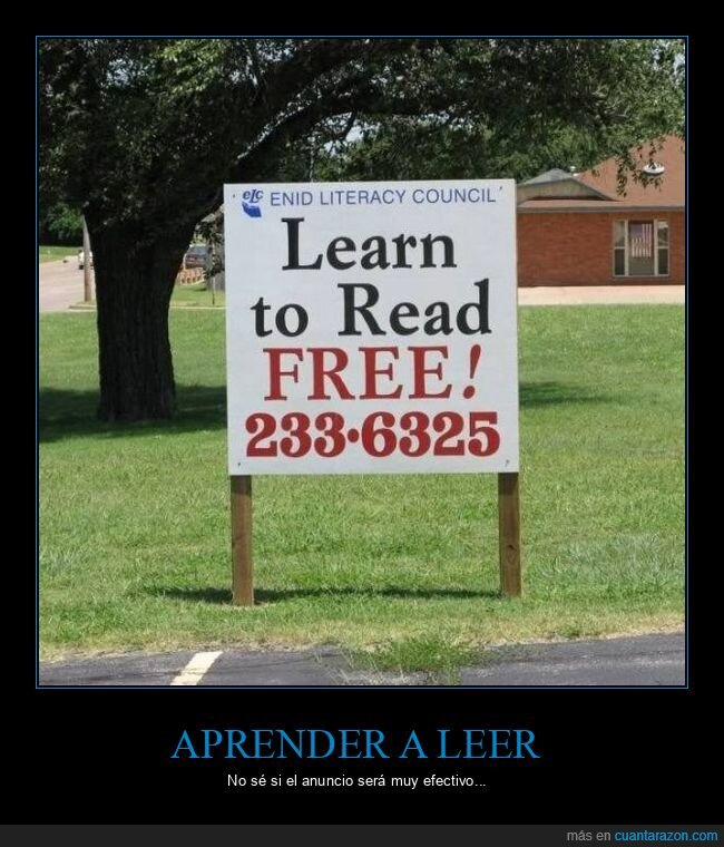 aprender,carteles,leer