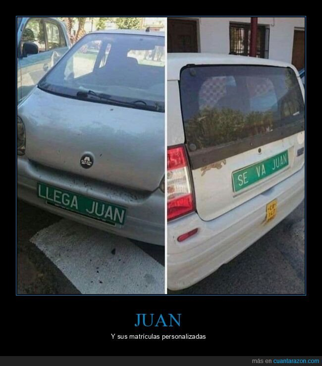coche,juan,matrícula