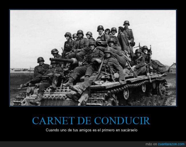 carnet de conducir,soldados,tanque