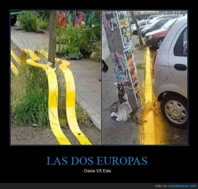 este,europa,líneas,oeste