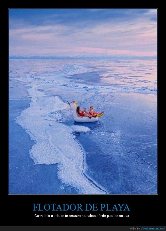 flotador,hielo,wtf