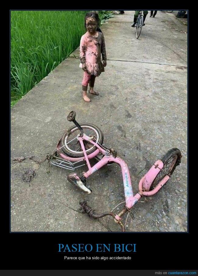 barro,bicicleta,fails,niña