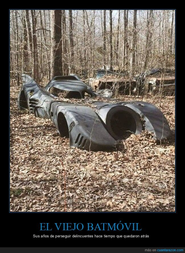 abandonado,batmóvil,coche