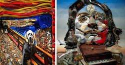 Enlace a Obras del artista que consigue convertir los desechos en verdaderas obras de arte en 3D