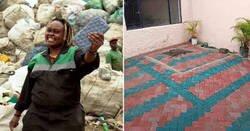 Enlace a Una mujer de Kenya convierte plástico en ladrillos más resistentes que el hormigón