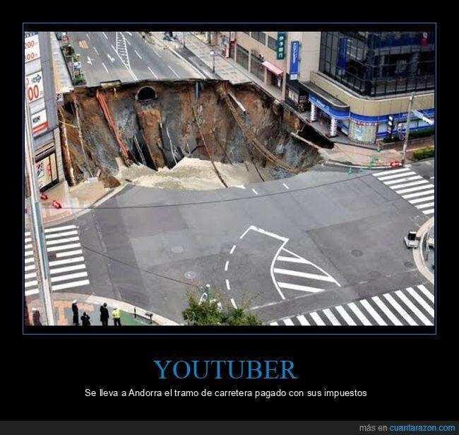 andorra,carretera,impuestos,youtuber