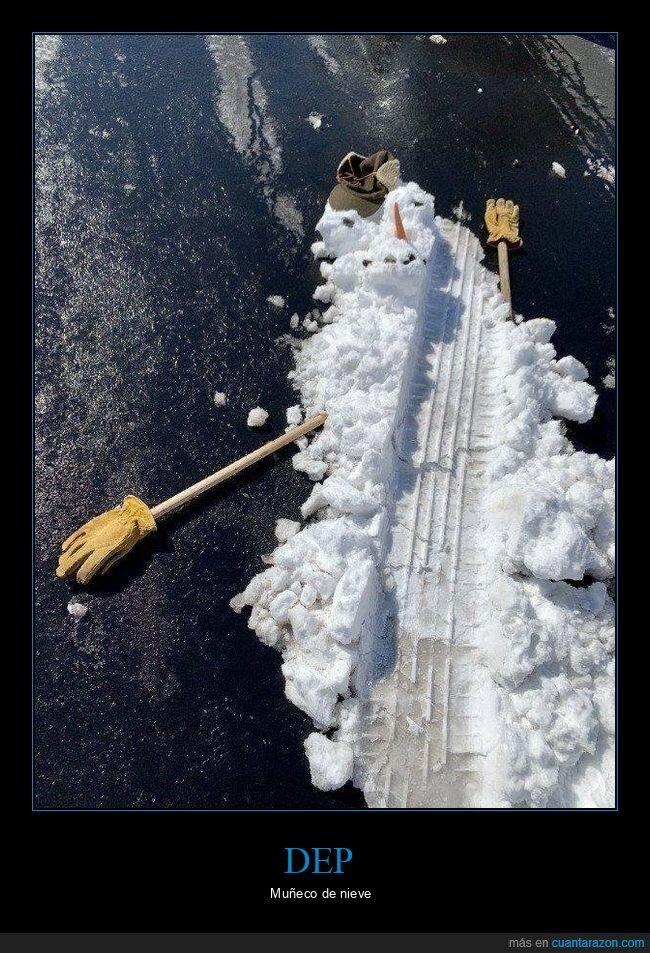 atropellado,coche,muñeco de nieve