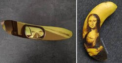 Enlace a Las mejores creaciones de la artista que crea obras de arte con plátanos