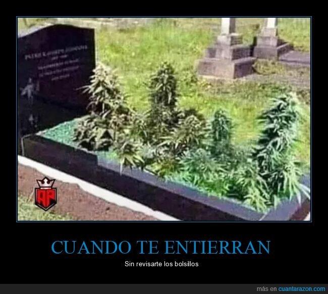 bolsillos,entierro,marihuana,tumba