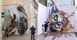 Enlace a Obras de arte hechas con basura que dan un toque original a entornos urbanos