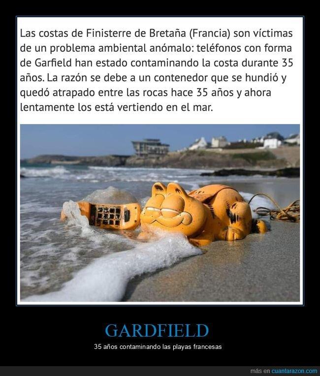 barco,gardfield,playa,teléfonos,wtf