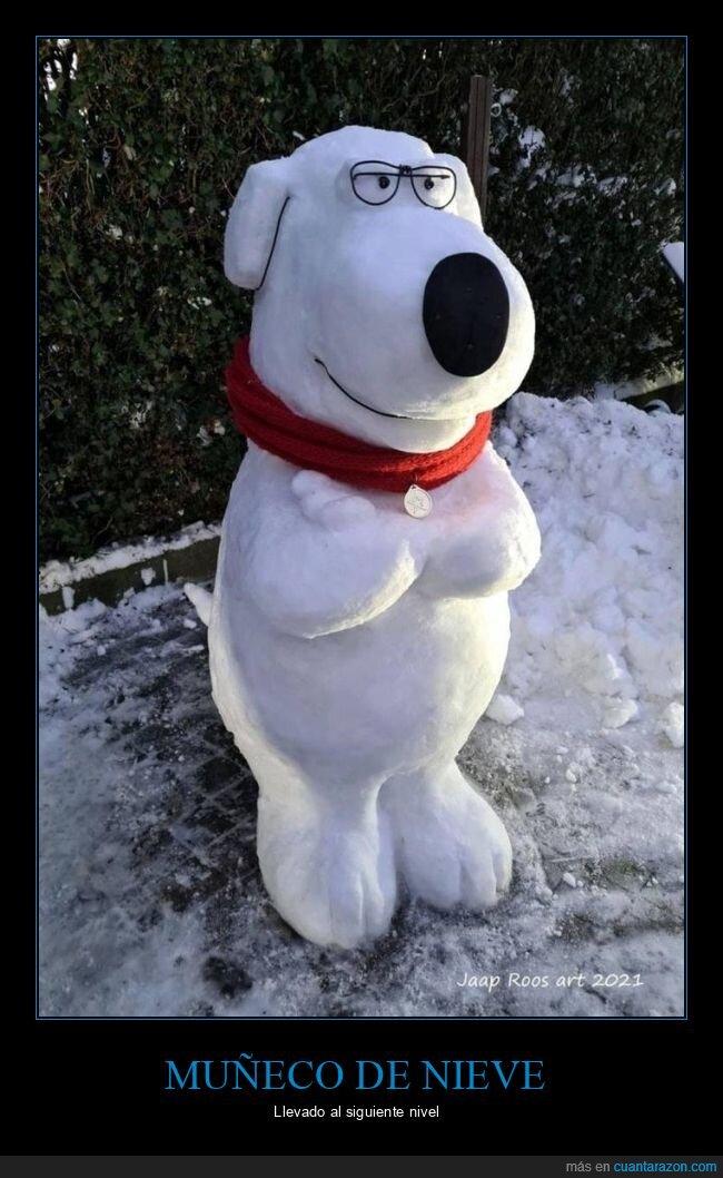 brian,muñeco de nieve,padre de familia
