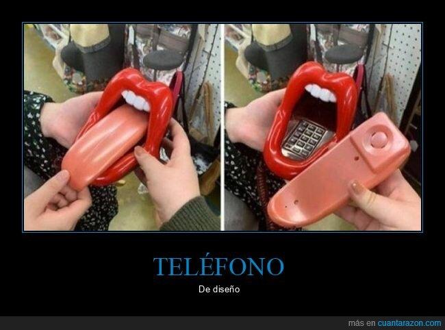 boca,lengua,teléfono