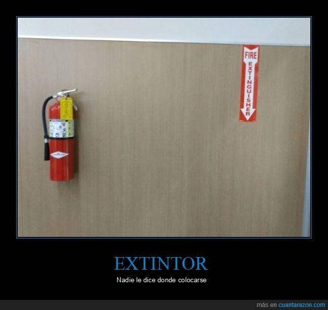 cartel,extintor,fails