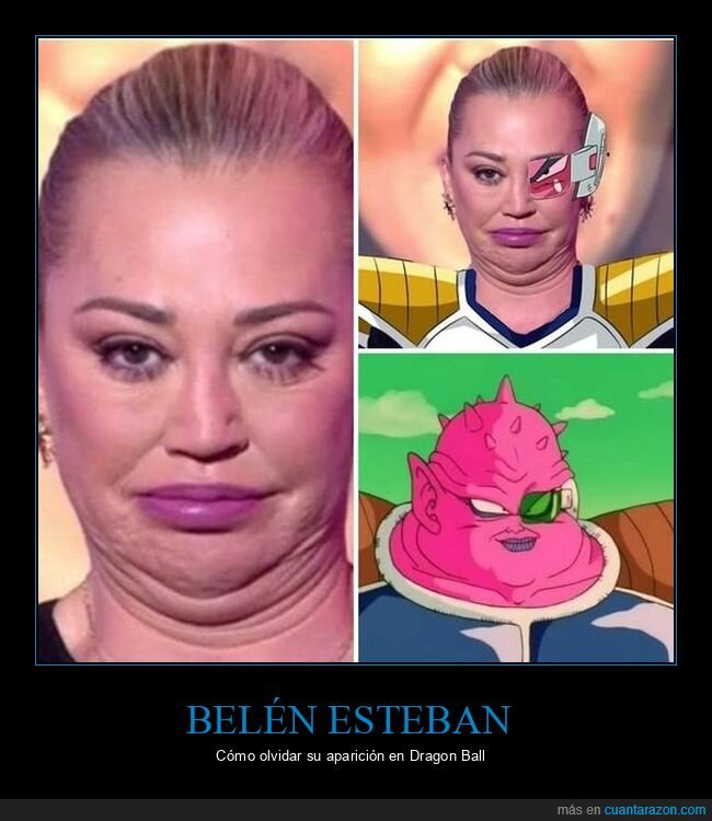 belén esteban,dodoria,dragon ball,parecidos
