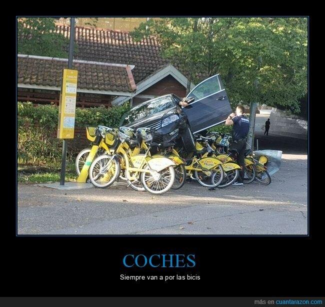 biciletas,coche,fails