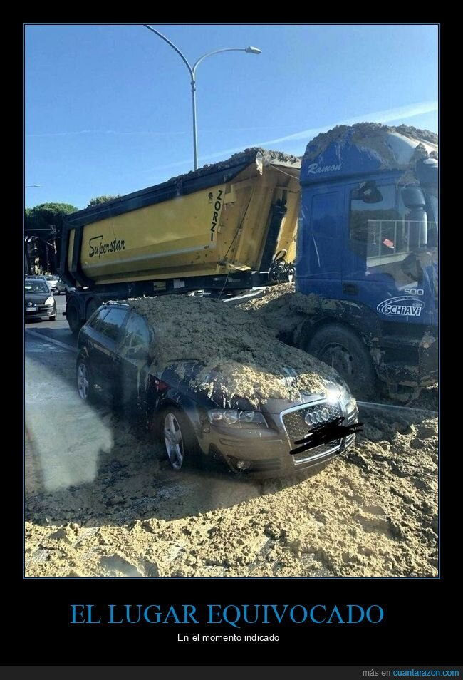 camión,coche,fails