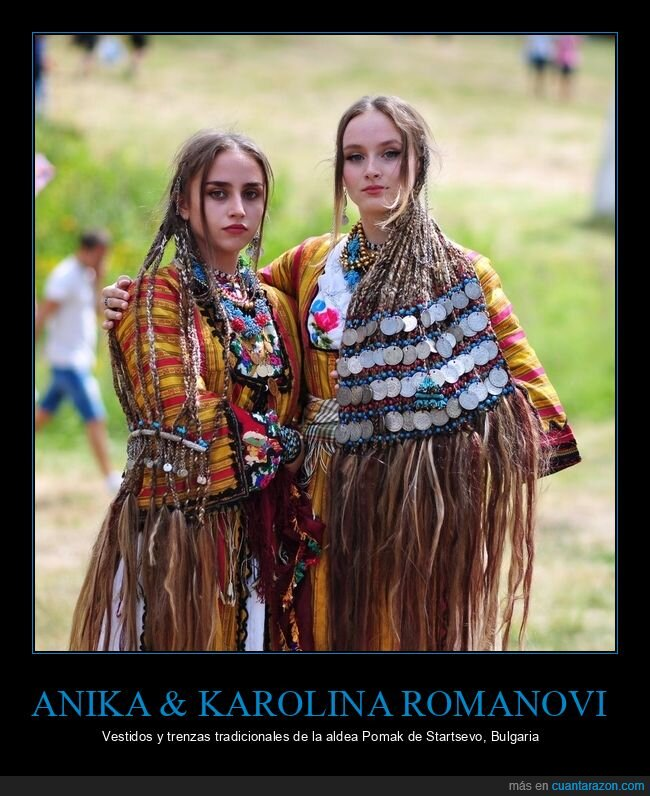 anika romanovi. karolina romanovi,trenzas,vestidos