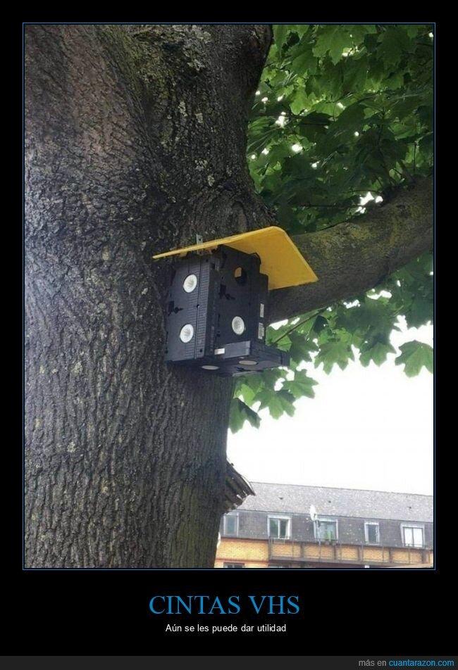 casa para pájaros,cintas vhs