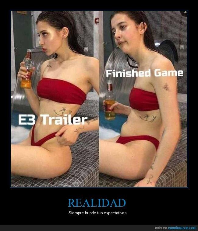 expectativas,realidad,trailer,videojuegos