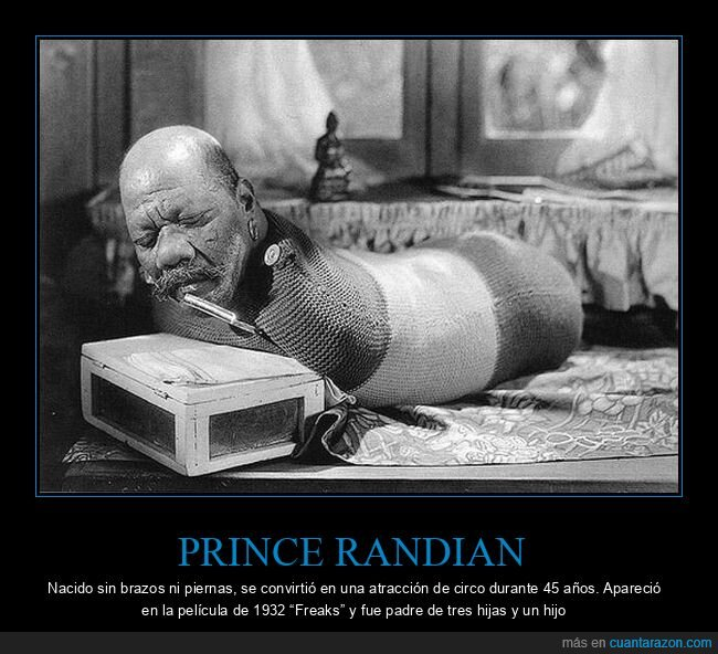 freaks,prince randian,sin brazos,sin piernas