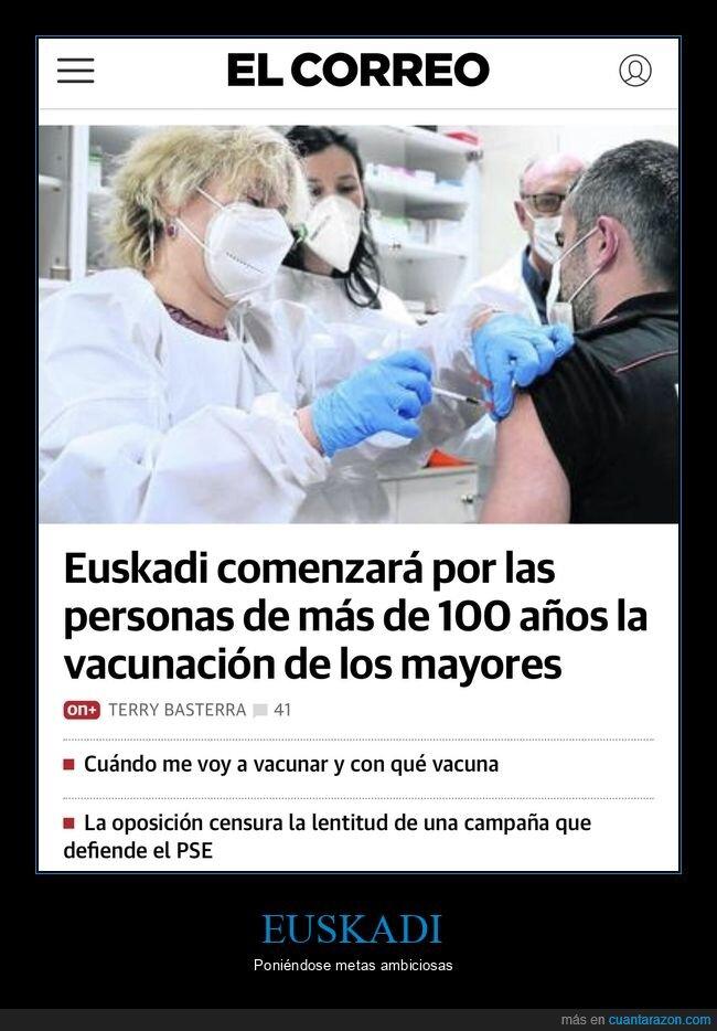 100 años,euskadi,vacunar