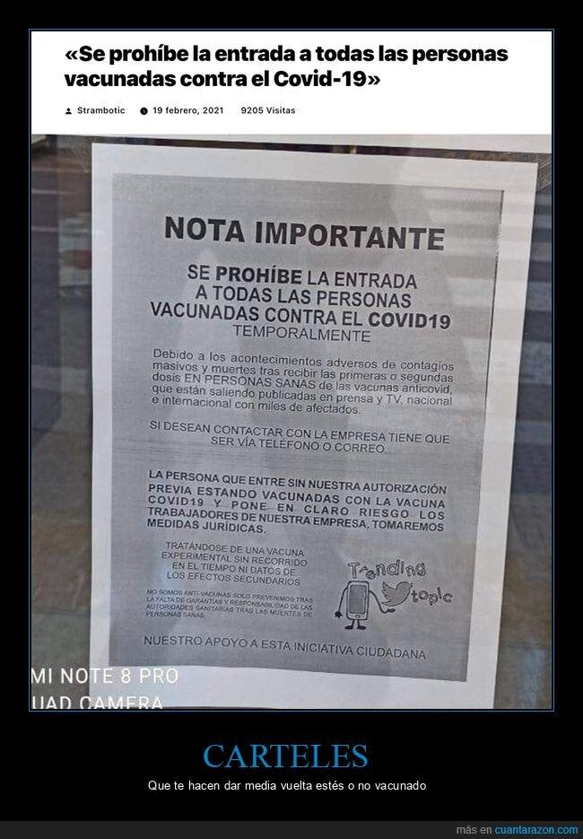 carteles,conspiranoicos,prohibición,tienda,vacunados,wtf