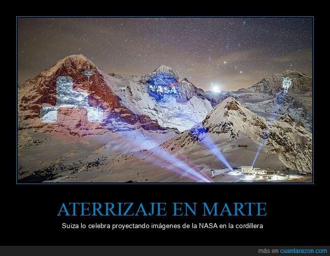 aterrizaje,marte,montañas,perseverance,proyecciones,suiza