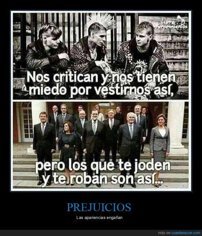 políticos,prejuicios