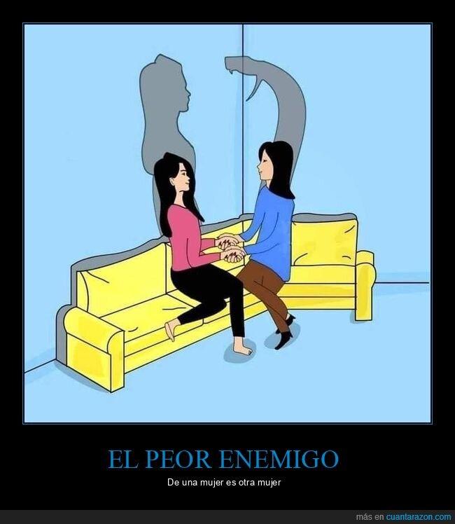 enemigos,mujeres